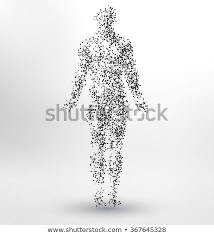 Cell anatomy abstract atom design Stock photo © Tefi