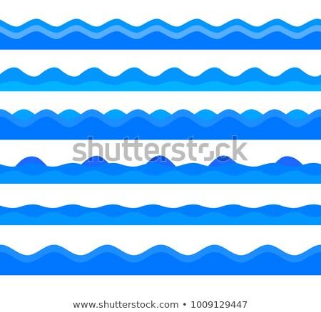 waveform on the sea themed background stock photo © swillskill