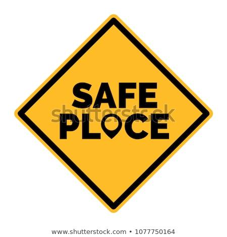 Sûr lieu ligne questions sociales Photo stock © devon