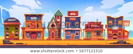 Desert scene with western style buildings Stock photo © bluering