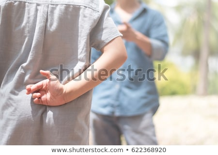 ребенка Ложь стороны ребенка папу Сток-фото © O_Lypa