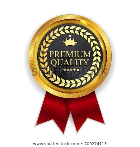 premium quality guaranteed golden ribbon design Stock photo © SArts