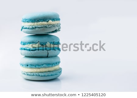 Macarons on blue Stock photo © Givaga