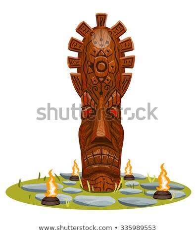 огня идол древних маске Сток-фото © Fisher