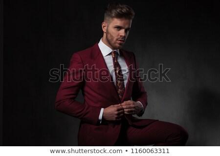 aantrekkelijk · jonge · man · witte · shirt · jeans - stockfoto © feedough