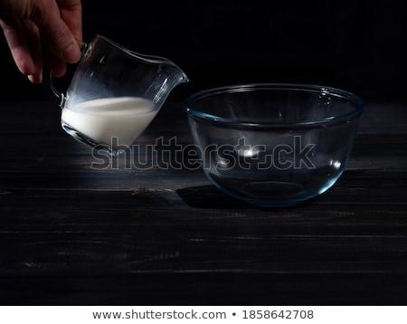 leite · salpico · preto · isolado · água · onda - foto stock © sibstock