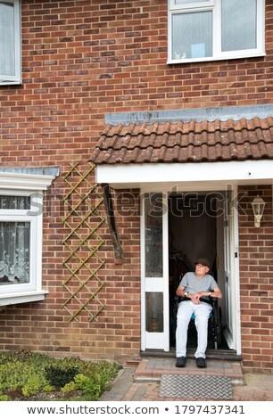 man in the doorway Stock photo © tekso