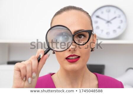 ноутбука · увеличительное · стекло · онлайн · безопасности · расследование · компьютер - Сток-фото © ichiosea