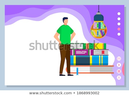 Stock photo: Webinar Flat Raster Icon