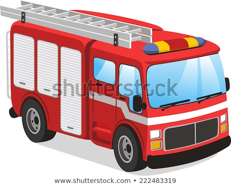 Cartoon Fire Engine Stock photo © blamb