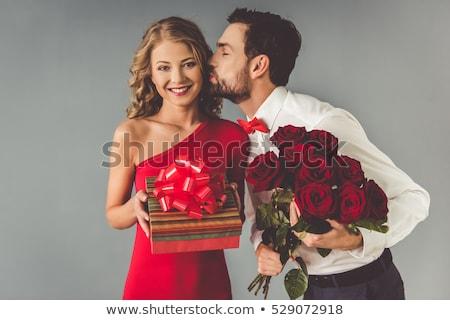 lang · bevallig · vrouw · minirok · sexy - stockfoto © julenochek