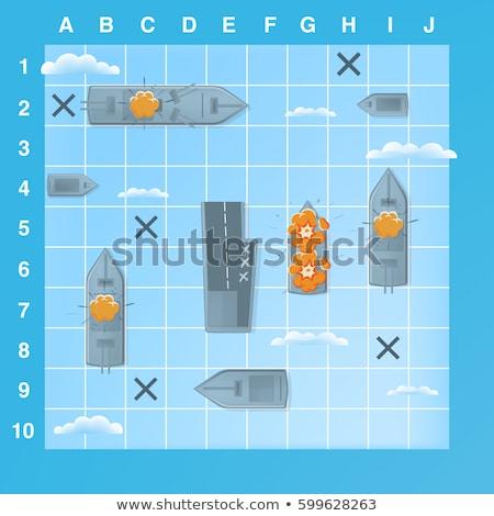 Tenger csata társasjáték űrlap játék csatahajó Stock fotó © Olena
