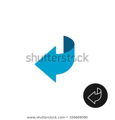Set of flat arrows with black stroke, vector illustration. Stock photo © kup1984