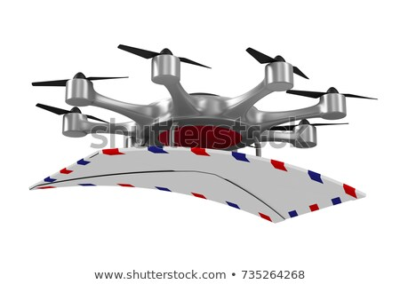octocopter with mail on white background. Isolated 3d illustrati Stock photo © ISerg