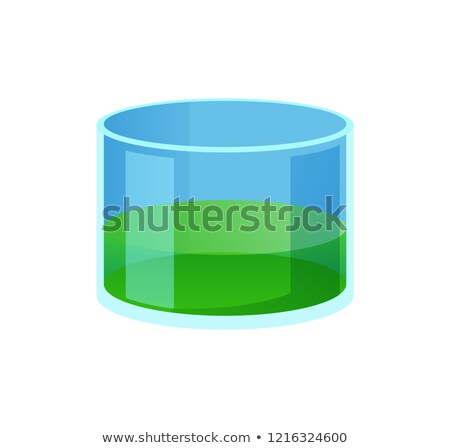 Chemical Flask with Wide Neck and Green Liquid Stock photo © robuart