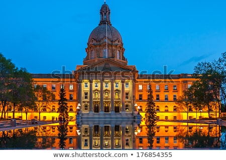 Alberta Legislative Building at night Stock photo © benkrut