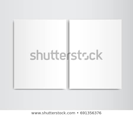 paper card on a wall 2 stock photo © oakozhan