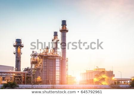 Steaming chimney of power plant Stock photo © bezikus
