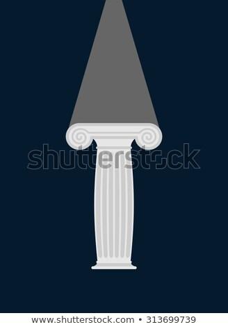 iônico · coluna · três · colunas · diferente · desenho - foto stock © popaukropa