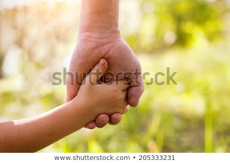 Father teaching sons to save Stock photo © IS2