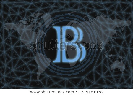 Blackcoin - Blockchain Cryptocurrency Graphic Symbol. Stock photo © tashatuvango