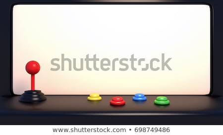 Stock photo: Joystick And Buttons On An Old Game Machine 3d Rendering