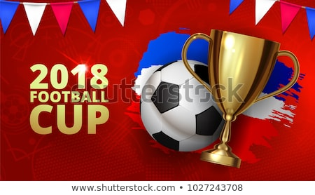 Golden champion cup on red background Stock photo © studioworkstock