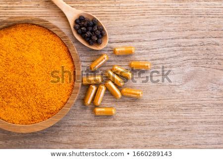 Jengibre negro alimentos Asia cocina saludable Foto stock © deandrobot