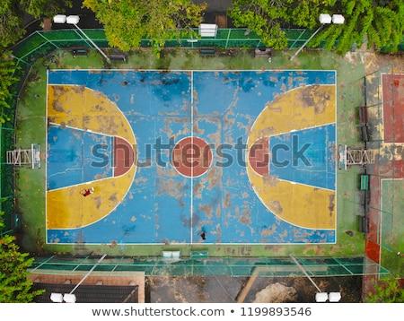 basket-ball · basket · cage · rouge · mur · de · briques · sport - photo stock © is2
