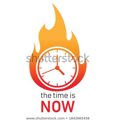 Termijn logo countdown vector embleem dynamiet Stockfoto © sidmay