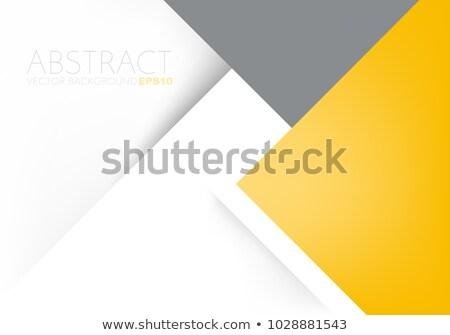 üzlet · terv · citromsárga · szürke · absztrakt · vektor - stock fotó © Diamond-Graphics