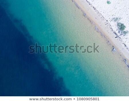 Aqua blue waters of Ettalong Beach Australia Stock photo © lovleah