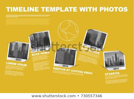 タイムライン テンプレート 写真 ベクトル インフォグラフィック 会社 ストックフォト © orson
