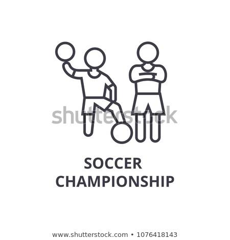 Wereld kampioenschap voetbal voetbal Rusland vlag Stockfoto © m_pavlov