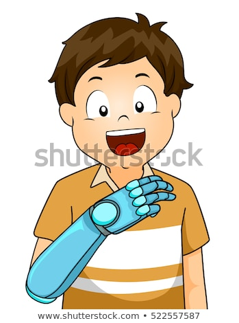 Kid Artificial Arm Holding Board Stock photo © lenm
