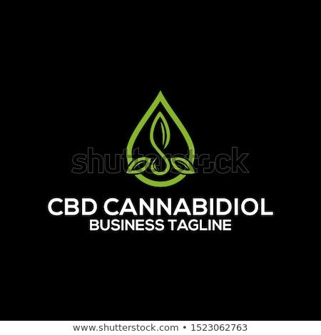 Marijuana impianto cannabis olio sfondo verde Foto d'archivio © joannawnuk