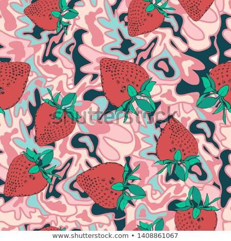 Verão tempo abstrato pontilhado padrão frutas Foto stock © Terriana