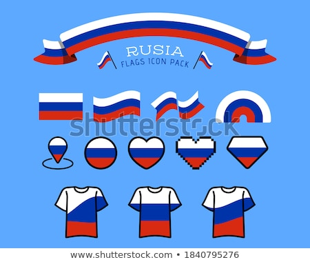 Сток-фото: Россия · символ · русский · наклейку · вектора · изолированный