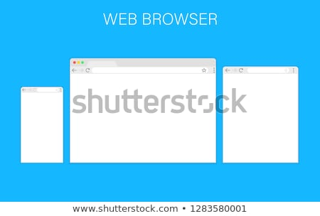in flat style. Browser search. stock photo © AisberG