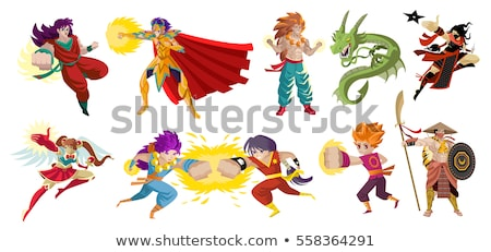 Manga Hero Jumping stock photo © chocolatebrandy