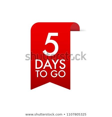 red days left label ribbon design Stock photo © SArts