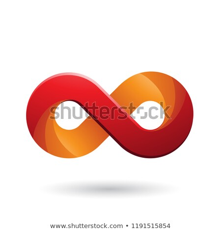 Infinity Symbol with Red and Orange Color Tints Vector Illustrat Stock photo © cidepix