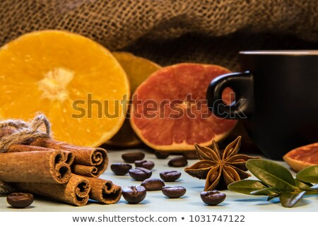 Bowl with spices on chopping board Stock photo © dash