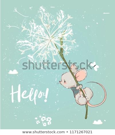 かわいい マウス 飛行 傘 メイプル ストックフォト © Artspace