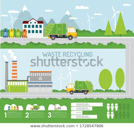 rubbish sorting process and statistical diagram stock photo © robuart