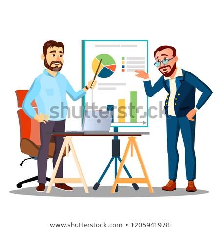 Emberek munka csapat megbeszél menetrend stratégia Stock fotó © pikepicture