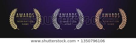 trofee · icon · witte · goud · lint - stockfoto © robuart
