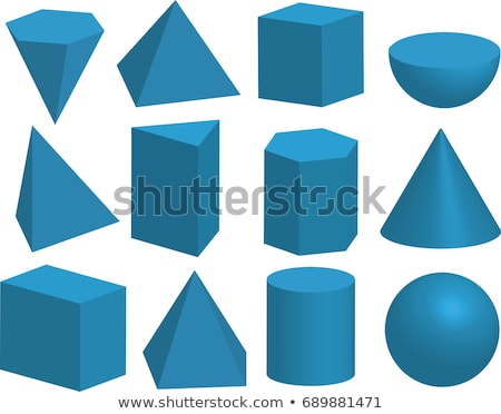 Square Pyramid Tetrahedron Solid Geometric Figures Stock photo © robuart