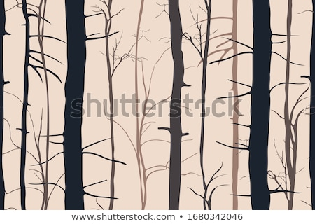 bare branches without leaves late autumn seamless pattern stock photo © orensila