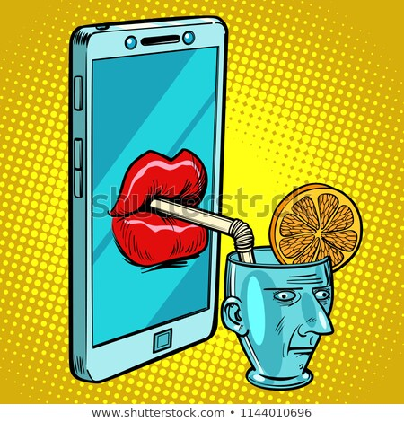 Smartphone drinks human brain Stock photo © rogistok